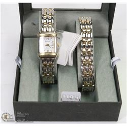 NEW BENRUS DIAMOND LINK WATCH