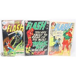 SET OF 2 FLASH COMICS NOV #201, 1970