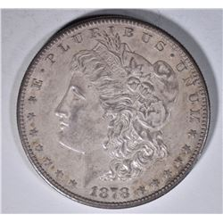 1878-S MORGAN DOLLAR, GEM BU 100% ORIG TONE