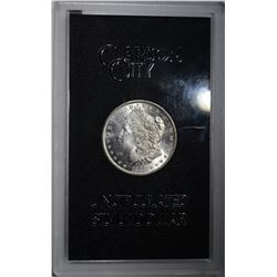 1883-CC GSA MORGAN DOLLAR, CH BU IN ORIG BOX/COA