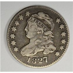 1827 CAPPED BUST DIME  VF