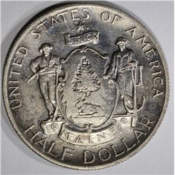 1920 MAINE CENTENNIAL COMMEM HALF DOLLAR  AU