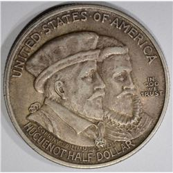 1924 HUGUENOT-WALLOON COMMEM HALF DOLLAR  AU