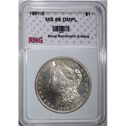 1881-S MORGAN DOLLAR RNG SUPERB GEM