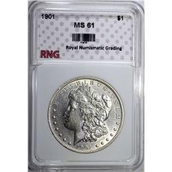 1901 MORGAN DOLLAR RNG CH BU