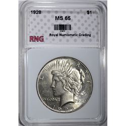 1928 PEACE DOLLAR RNG GEM BU