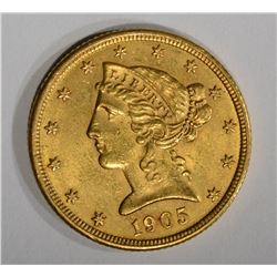 1905 $5 GOLD LIBERTY HEAD