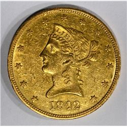 1842-O $10 GOLD LIBERTY HEAD