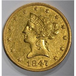 1847-O $10 GOLD LIBERTY HEAD