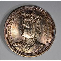 1893 ISABELLA 25c SILVER COMMEMORATIVE QUARTER