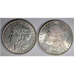 1900 XF & 1900-O BU MORGAN DOLLARS