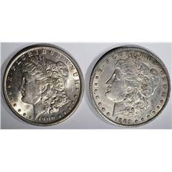 1900-O BU & 1901-O XF MORGAN DOLLARS
