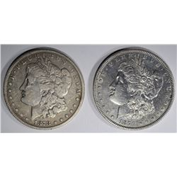 1878 7F VF & 1879 XF MORGAN DOLLARS