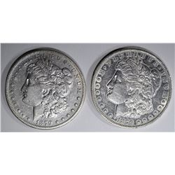 1879-S VF & 1879-O XF MORGAN DOLLARS