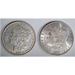 1880 XF & 1880 AU MORGAN DOLLARS