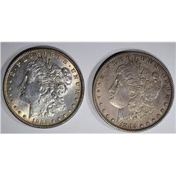 1883 AU & 1885 AU MORGAN DOLLARS