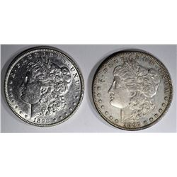 1897-S XF & 1898 AU MORGAN DOLLARS