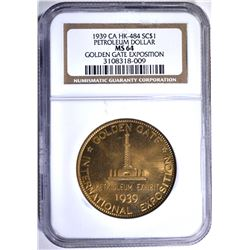 1939 CA HK-484 SO CALLED DOLLAR, NGC MS-64