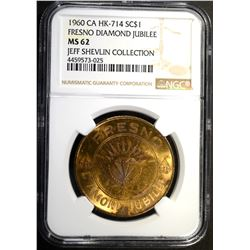 1960 CA HK-714 SO CALLED DOLLAR, NGC MS-62