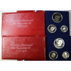 2-UNC & 2-PROOF 1976 40% SILVER SETS ORG PACKAGING