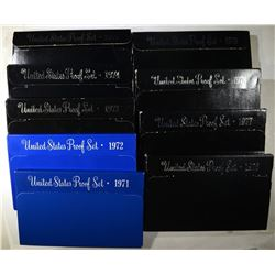 1971 thru 1979 U.S. PROOF SETS