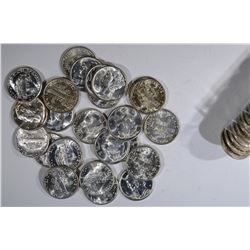 37 -BU MERCURY DIMES, MIX DATES;