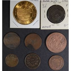 LOT: 8 - TOKENS, OLD FOREIGN COINS