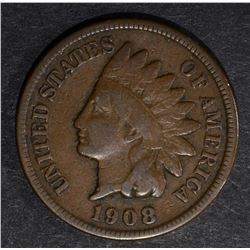 1908-S INDIAN HEAD CENT VG