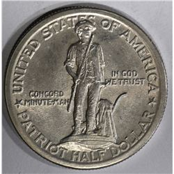 1925 LEXINGTON-CONCORD COMMEM HALF DOLLAR  BU