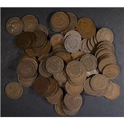 100-MIXED DATE CIRC INDIAN CENTS ALL IN THE 1900'S
