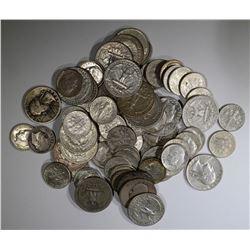 $10.00 90% SILVER COINS-DIME/QUARTER MIX