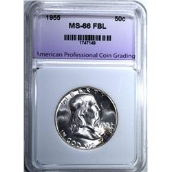 1955 FRANKLIN HALF DOLLAR APCG