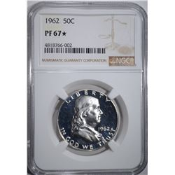 1962 FRANKLIN HALF DOLLAR NGC PF67*