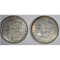 1880 AU & 1880-O XF MORGAN DOLLARS