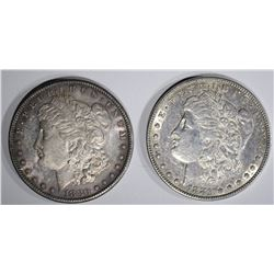 1880-S AU & 1881 AU MORGAN DOLLARS
