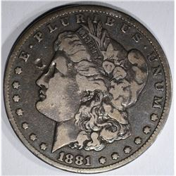 1881-CC MORGAN DOLLAR  FINE