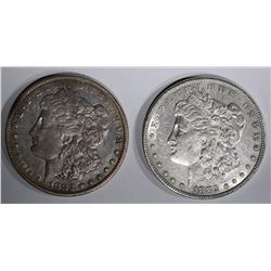 1882 AU & 1882-CC VF MORGAN DOLLARS