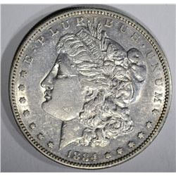 1884-S MORGAN DOLLAR  XF-AU