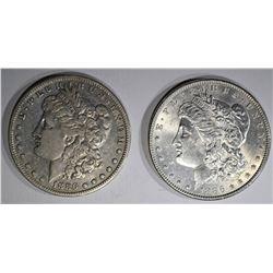 1886 BU & 1886-S VF MORGAN DOLLARS