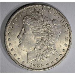 1886-O MORGAN DOLLAR  AU/UNC