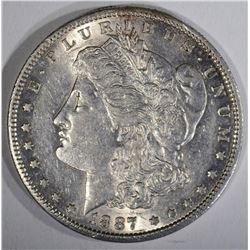 1887-S MORGAN DOLLAR  AU+
