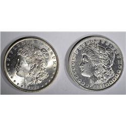 1888 XF & 1888-O CH BU MORGAN DOLLARS
