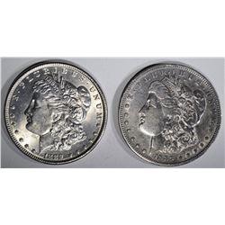 1889 CH BU & 1889-O XF MORGAN DOLLARS