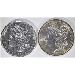 2 MORGAN DOLLARS:  1889-S AU RIM DAMAGE &
