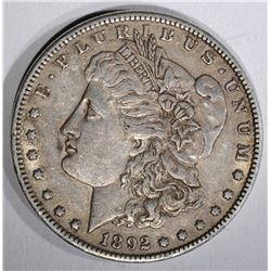 1892 MORGAN DOLLAR  XF+