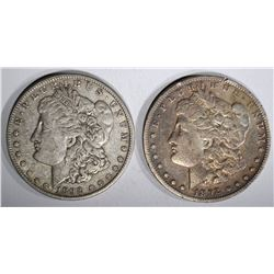 1892-S FINE & 1892-O XF MORGAN DOLLARS