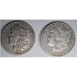 1894-O FINE & 1894-S FINE MORGAN DOLLARS