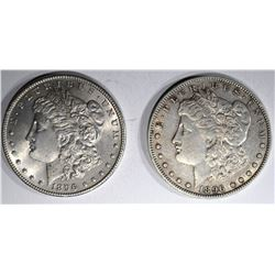 1896 BU & 1896-O XF MORGAN DOLLARS