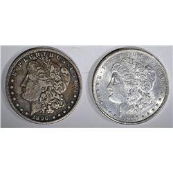 1896-S VF/XF & 1897 AU MORGAN DOLLARS
