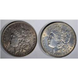 1904 AU & 1904-O CH BU MORGAN DOLLARS